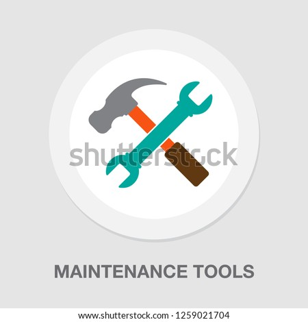 maintenance tools icon. vector repair tools, industry service tools