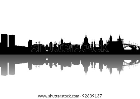 Mainz silhouette abstract