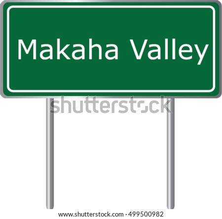 makaha valley   hawaii   road
