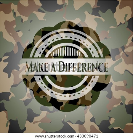 Make a Difference written on a camouflage texture