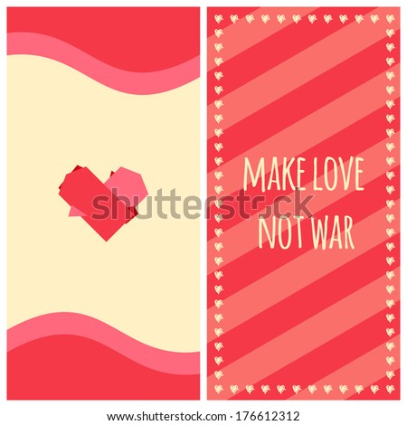 make love  not war   banner