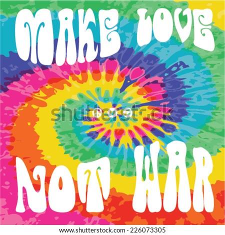Make Love Not War - Hippie style Stock foto ©