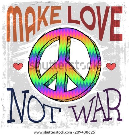make love not war   hippie