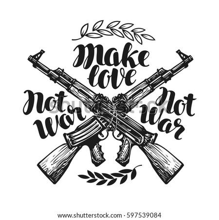 make love not war  label