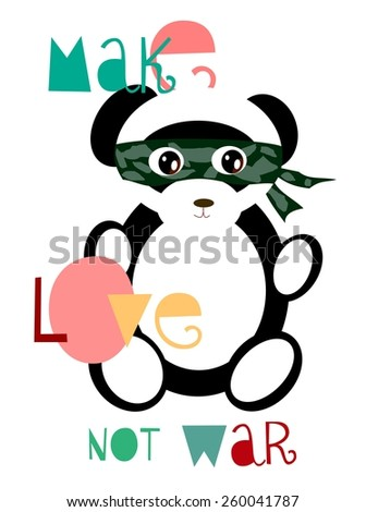 make love not war panda