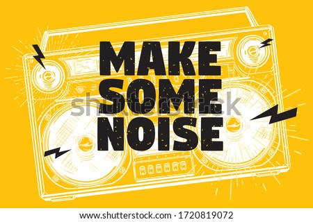 Make some noise musical design with boombox ストックフォト ©
