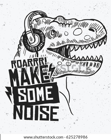 make some noise slogan graphic