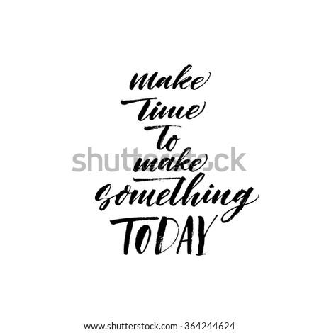 make time to make something