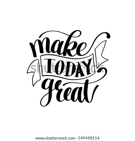 make today great vector text