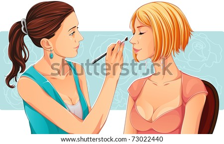 Makeup Icon Vector Makeup Artist Vector Make up