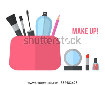 make up concept vector flat