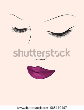 make up fashion portrait