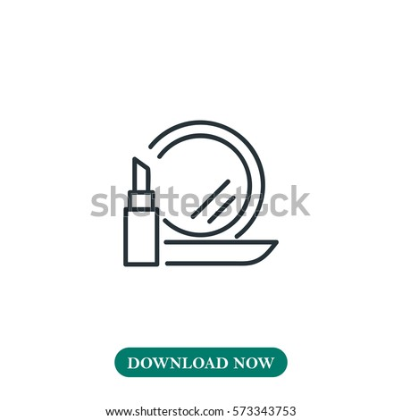 make up icon vector