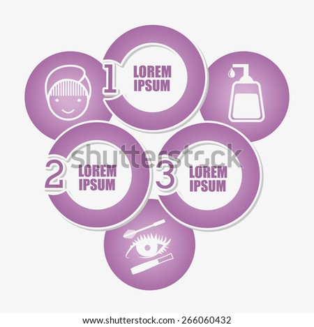 make up infographics design, vector illustration eps10 graphic