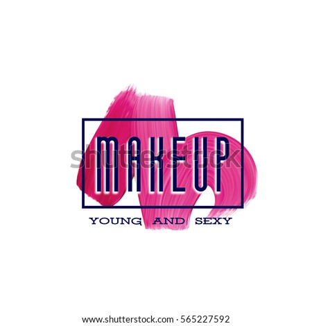 make up print design with