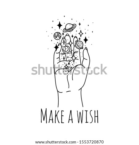 make wish linear hand holding