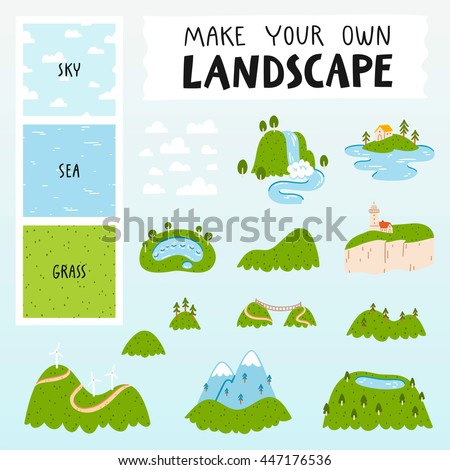 make your own landscape with 3
