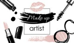Makeup artist banner. Vector template.business concept