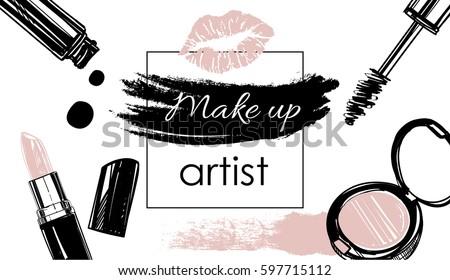 makeup artist banner vector