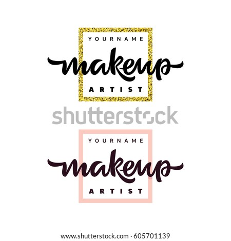 makeup artist fashion logo
