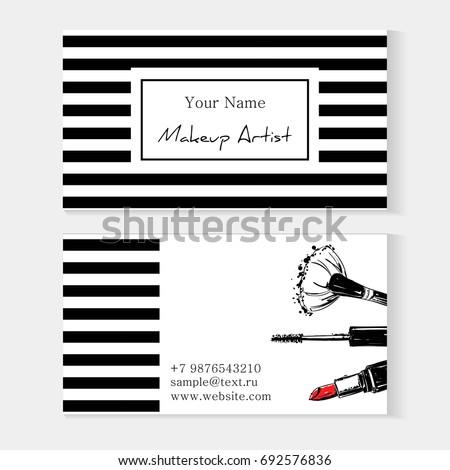makeup artist template business