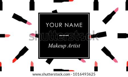 makeup business cards template
