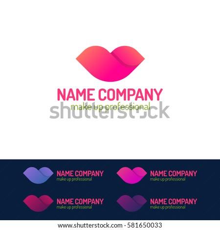 makeup logo set consisting of