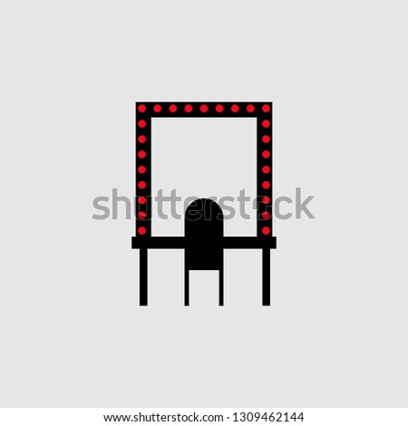 Makeup table icon. Element of Theatre icon for mobile concept and web apps. Detailed Makeup table icon can be used for web and mobile