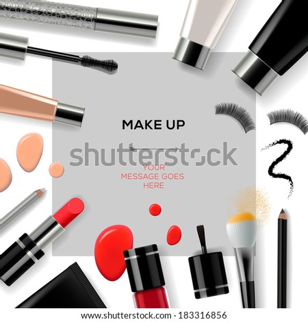 makeup template with collection