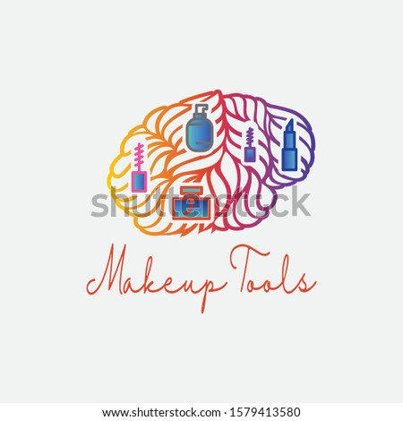 Makeup tool in the brain, cosmetics logo,  Cosmetic procedures, Cosmetic labeling