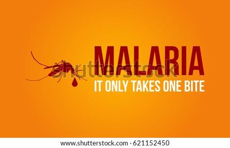 Malaria on orange background style #621152450