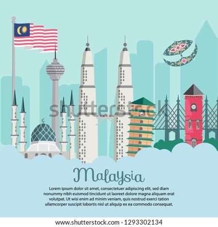 malaysia building   flag