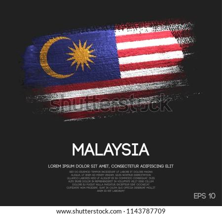 malaysia flag made of glitter