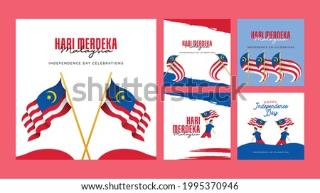 Malaysia independence day banners design template. Design for banner; greeting cards or print. Photo stock ©