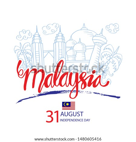 Malaysia Independence Day celebration with city skyline