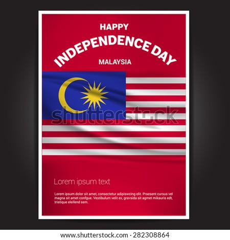 malaysia independence day poster