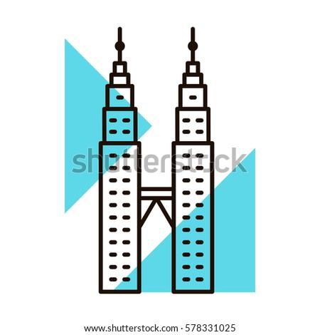 Malaysia landmark icon