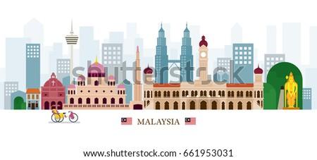malaysia landmarks skyline
