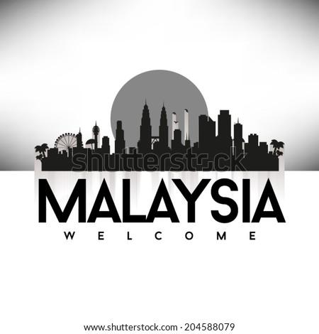 malaysia skyline silhouette