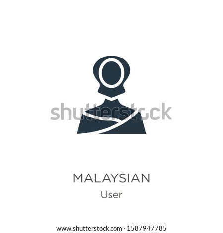 Malaysian icon vector. Trendy flat malaysian icon from user collection isolated on white background. Vector illustration can be used for web and mobile graphic design, logo, eps10