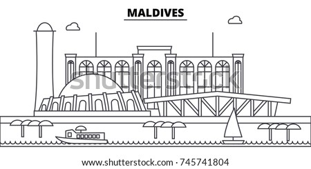 maldives architecture skyline