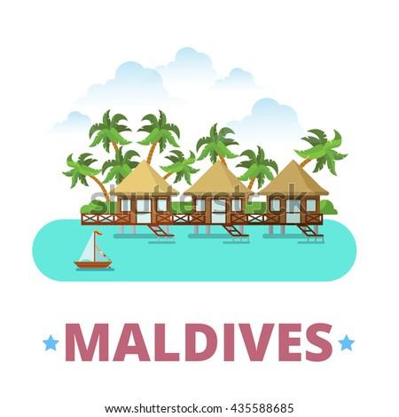 maldives country badge fridge