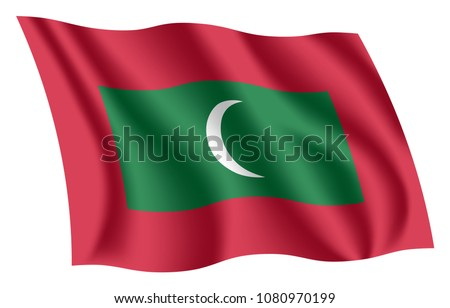maldives flag isolated