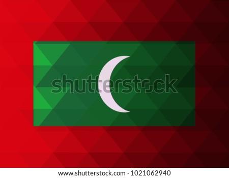 maldives islands flag vector
