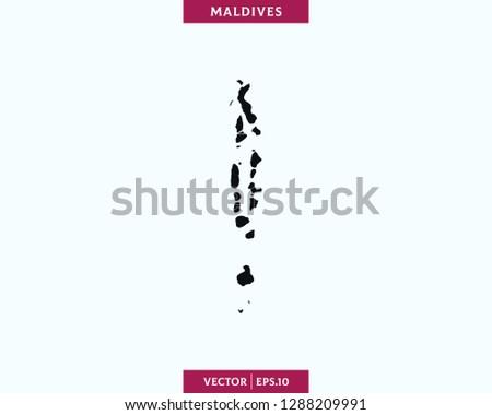Maldives map Newest Royalty-Free Vectors | Imageric.com