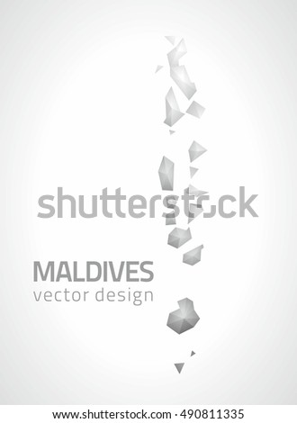 Vector Images, Illustrations and Cliparts: Maldives polygonal grey ...