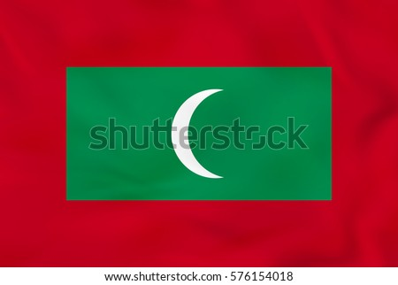 maldives waving flag maldives