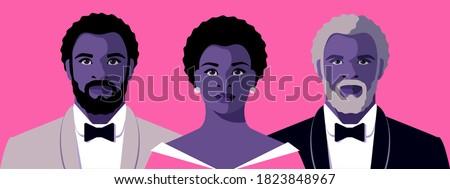 male and female avatars  full
