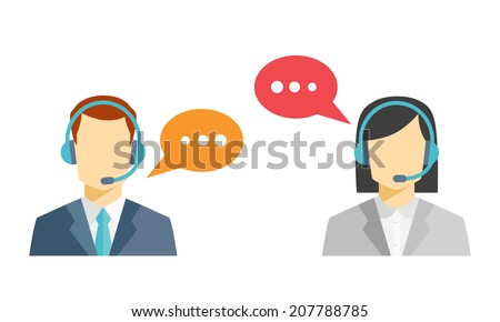 male and female call center