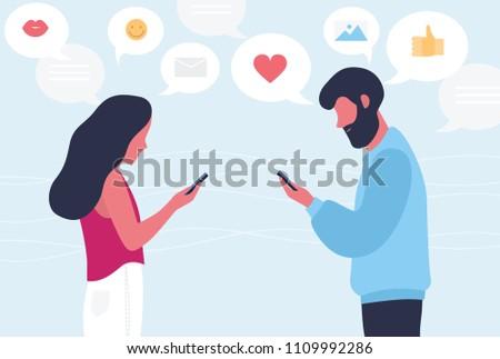 male and female cartoon